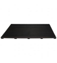Large Doormat Shoe Scraper - Black