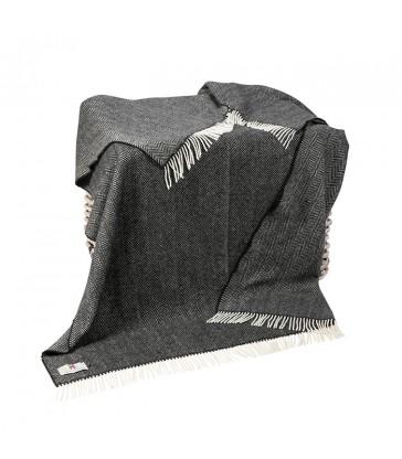 Charcoal Grey Merino & Cashmere Throw