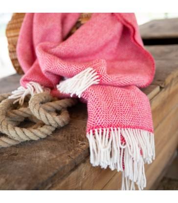 Hot Pink Merino & Cashmere Throw