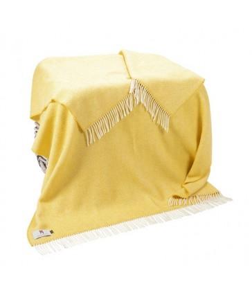 Yellow Herringbone Merino & Cashmere Throw