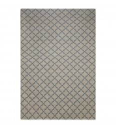 Geometric Rug Light Grey 180 X 280