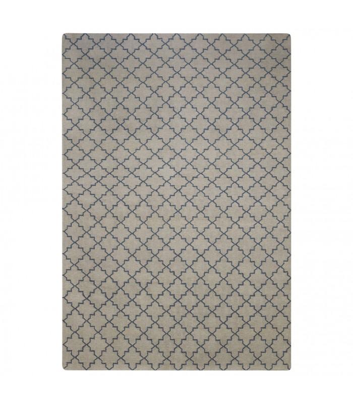 Diamond Rug Dark Grey Off White 180 X 280