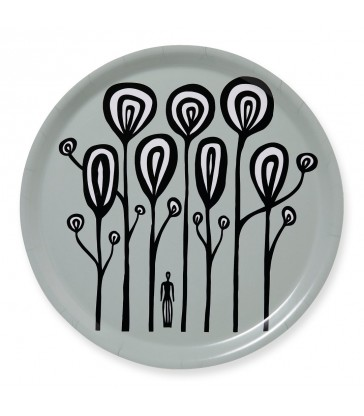 Women in the Forest Round Tray