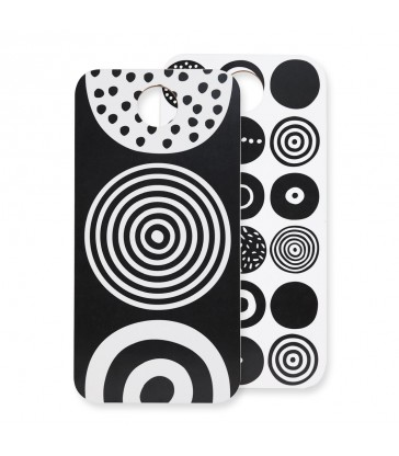 Candy Black and White Chopping Board