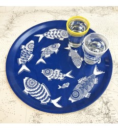 Shoal of Fish Blue Tray