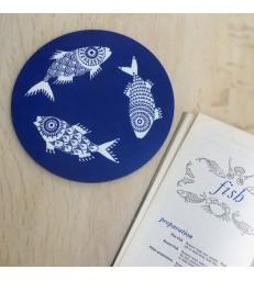 Shoal of Fish Blue Trivet