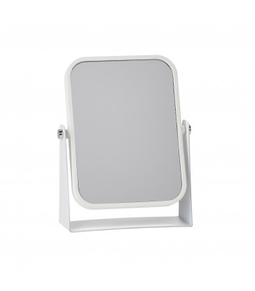 White Table Mirror with magnification