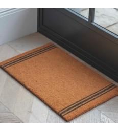Coir Doormat 3 Stripes 65x40cm Sml