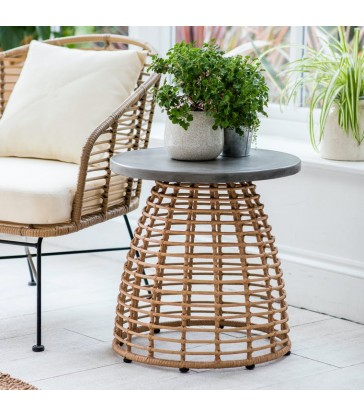 Bamboo Round Side Table