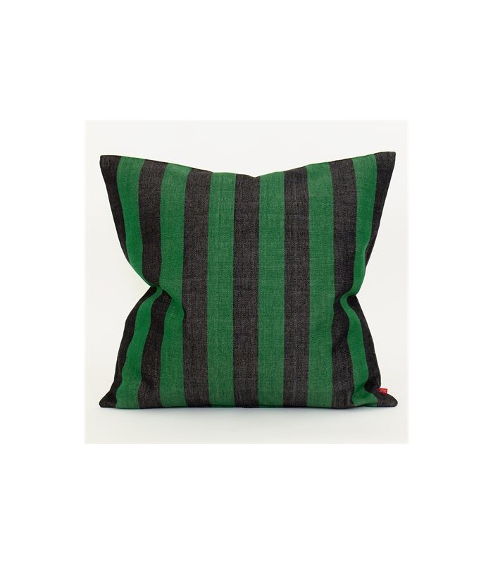 Emanuela cushion green & black 50x50cm