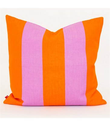 FIFI Orange & Lilac Stripe Cushion