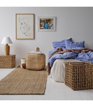 long natural jute floor rug for your home