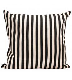 DONIA Black and White Stripe cushion 50x50cm