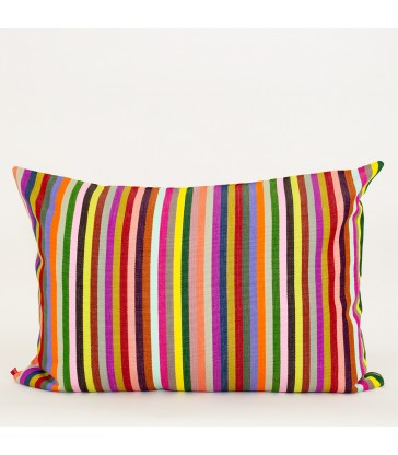 Saturnina Multi Colour Stripe cushion 50x70cm