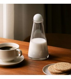 Small Glass Carafe 35cl - white stopper