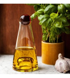 Small Glass Carafe 35cl - amber stopper