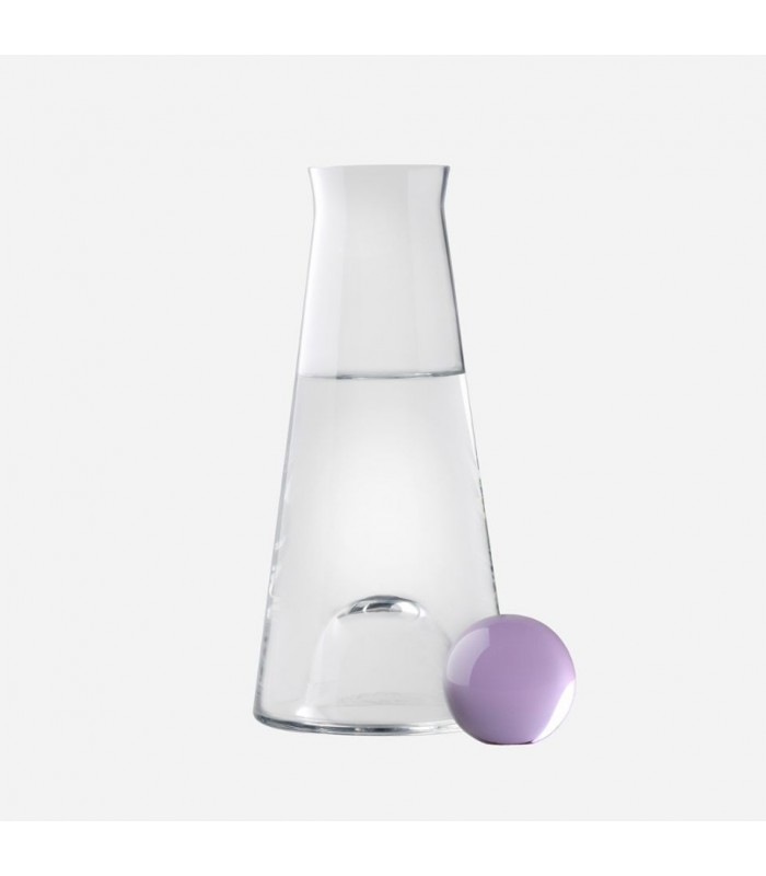 Glass Carafe  100cl - amethyst  stopper