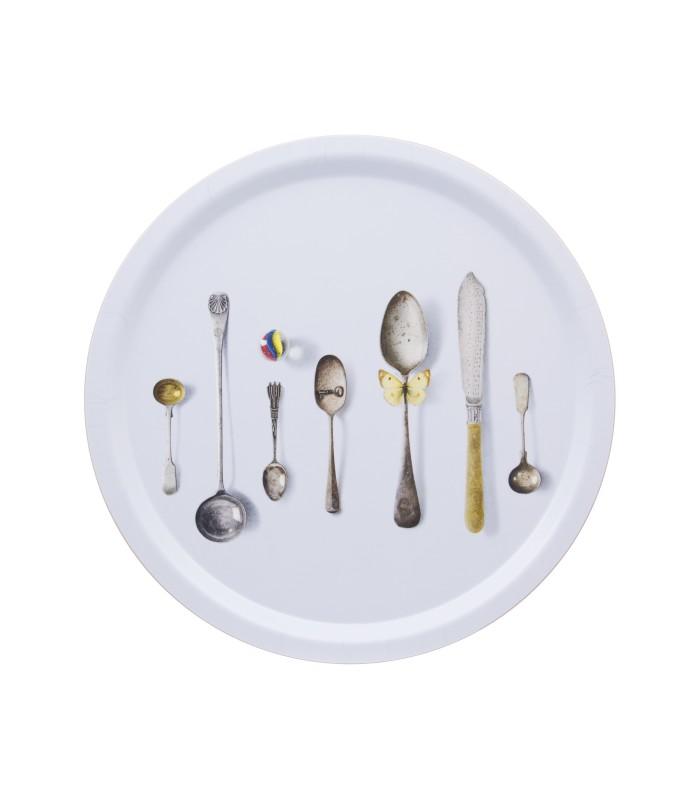 Pale Blue Cutlery Tray - 39cm