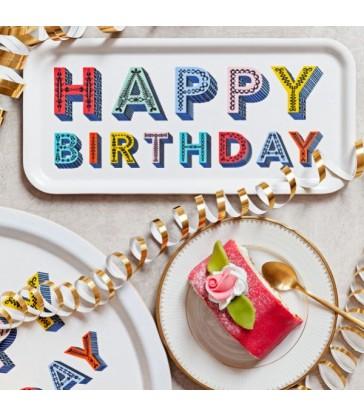 Happy Birthday Birch Tray