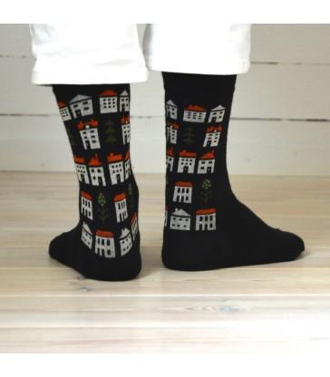 dark antracite grey merino wool socks in two sizes
