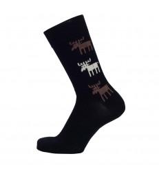 Merino Socks - Black Moose