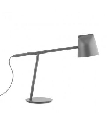 grey desk lamp with led bulb adjustable desk lighting.