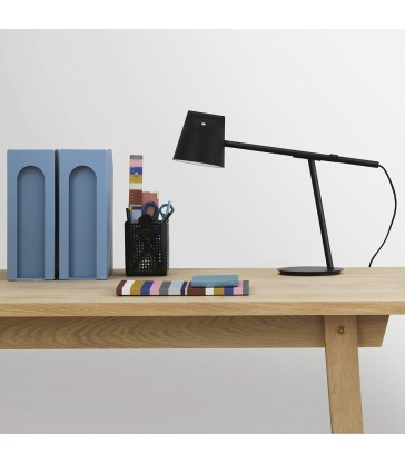 modern black table lamp with adjustable feature from the blue door