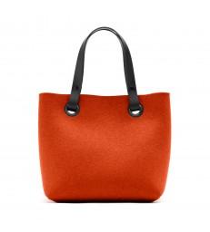 Mango Orange Felt Handbag