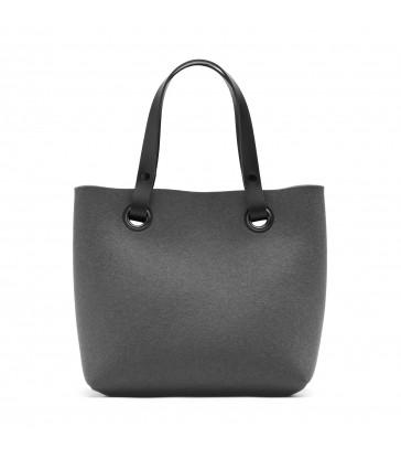Anthracite Grey Felt Handbag