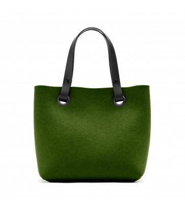 Olive Green Felt Handbag