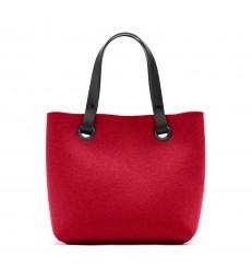 Poppy red Felt Handbag