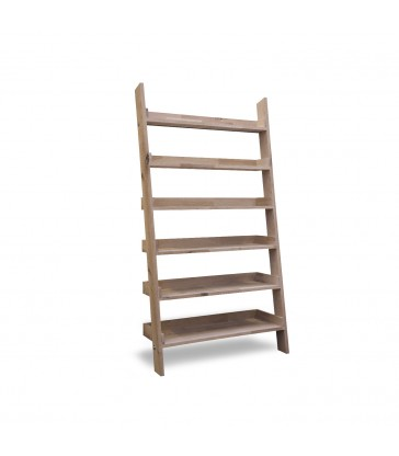 Oak Shelf Ladder - Wide