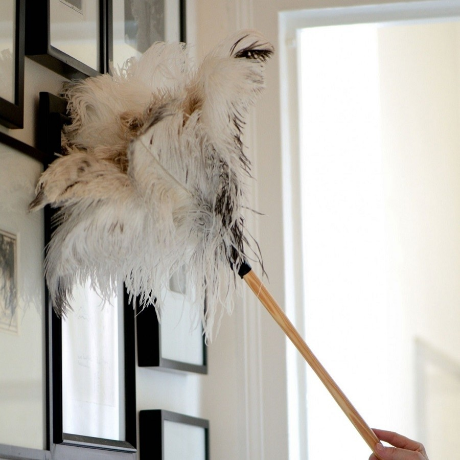 Special White Ostrich Feather Duster The Blue Door
