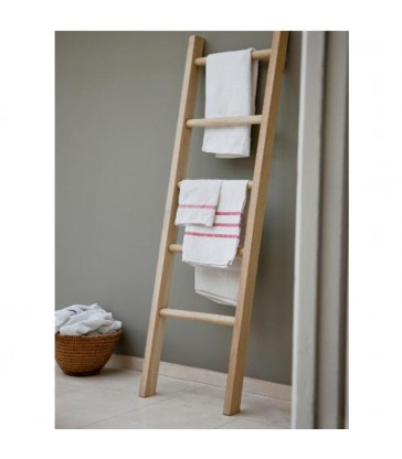 Raw Oak Towel Ladder