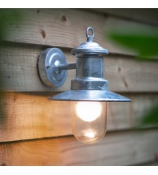 Galvanised Ships Light - Outdoor Wall Lighting