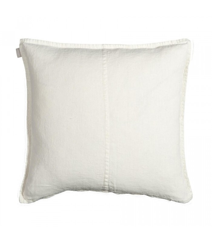 white stone washed linen cushion from Linum West